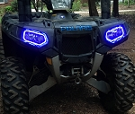 Halo LEd light Rings for headlights - Polaris Sportsman XP  850 1000 2009 -2016 and Highlifter 2009 - 2019